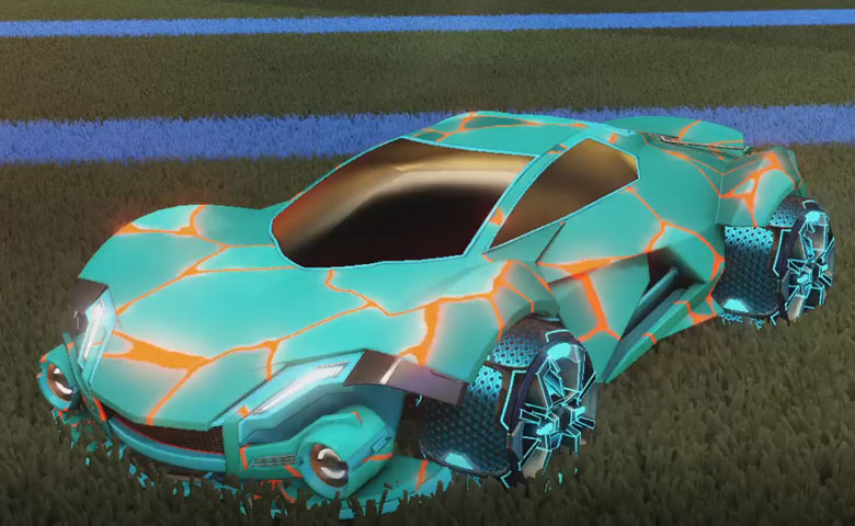 Rocket league Werewolf Sky Blue design with Apparatus,Magma