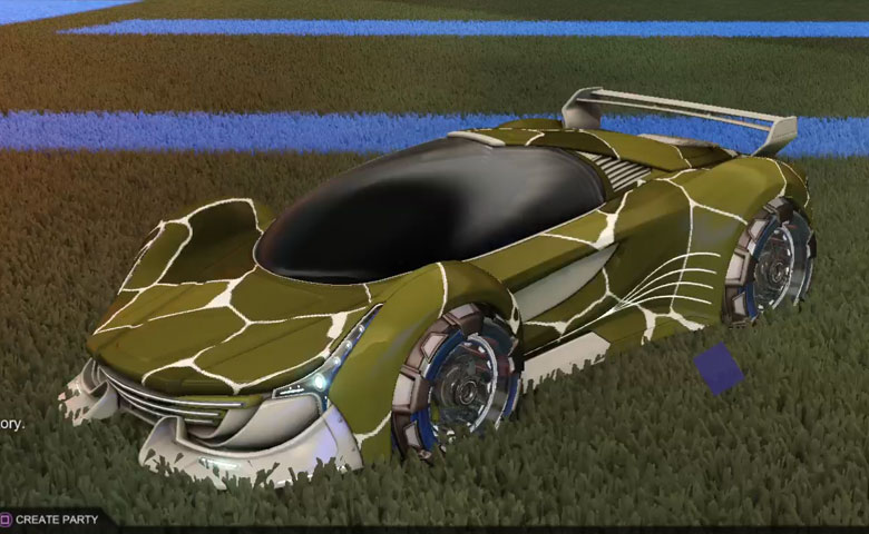 Rocket league Nimbus Grey design with NeYoYo,Magma