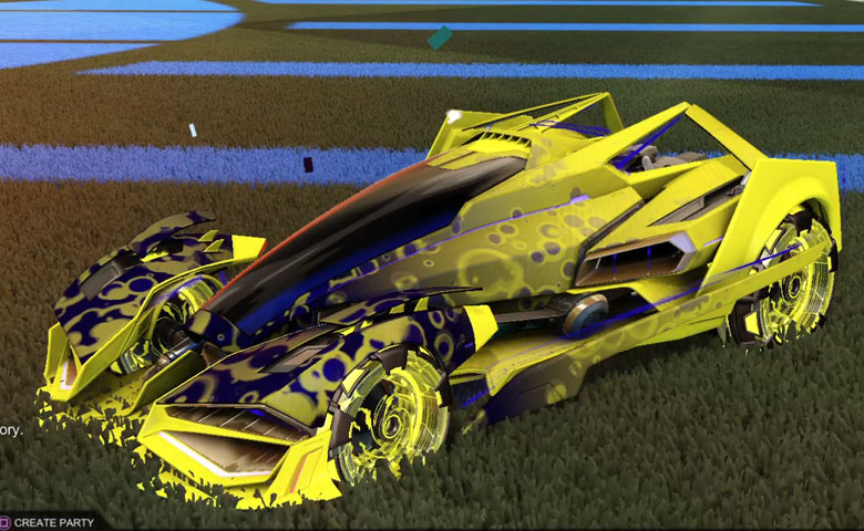 Rocket league Artemis GXT Saffron design with NeYoYo,Bubbly