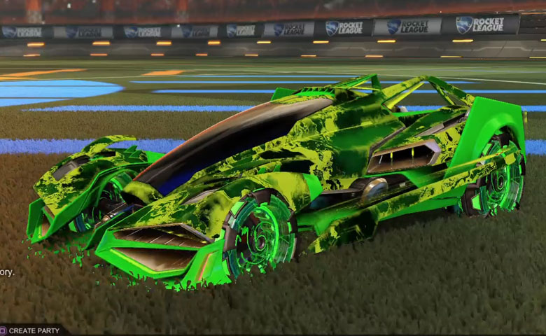 Rocket league Artemis GXT Forest Green design with NeYoYo,Fire God