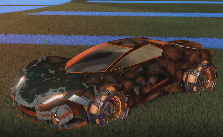 Rocket league Werewolf Burnt Sienna design with NeYoYo,Chameleon