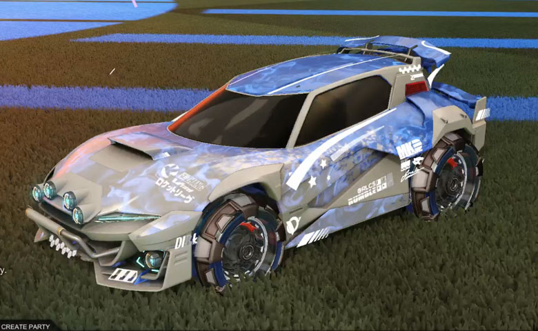 Rocket league Mudcat GXT Grey design with NeYoYo,Dissolver