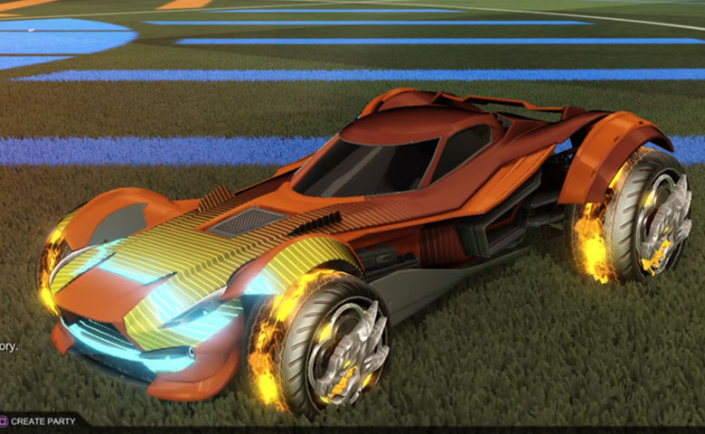 Rocket league Sentinel  Burnt Sienna design with Draco,Future Shock