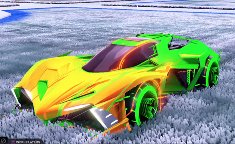Rocket league Chikara GXT Forest Green design with Yankii RL,Wet Paint