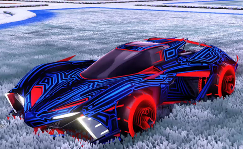 Rocket league Chikara GXT Crimson design with Yankii RL,Labyrinth