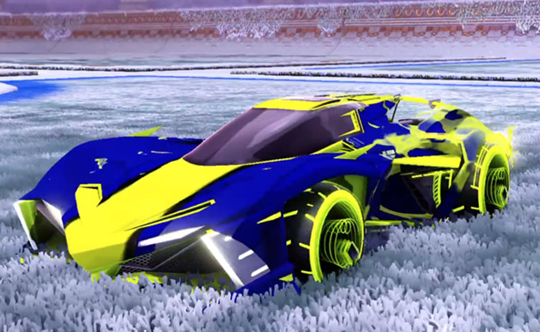 Rocket league Chikara GXT Lime design with Yankii RL,Spectre