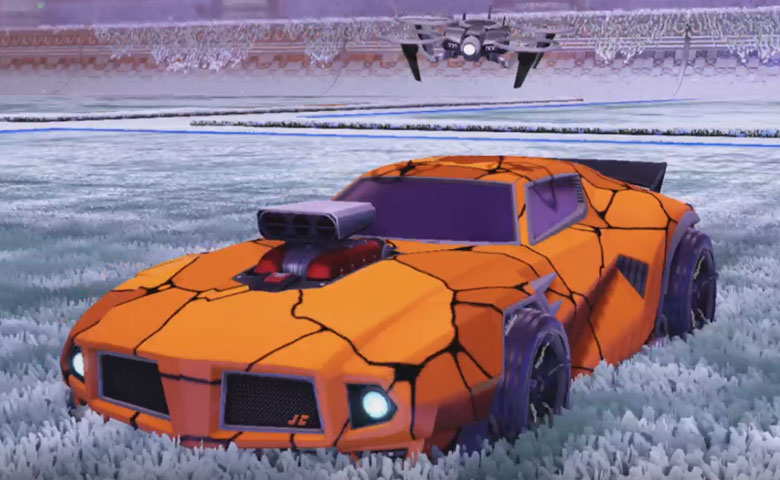 Rocket league Dominus GT design with FSL-B,Radiant Gush,Magma,Drone III