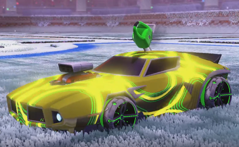 Rocket league Dominus GT design with Philoscope III,Super Manga-Bolt III,Percussion,Chainsaw,Hack Swerve III