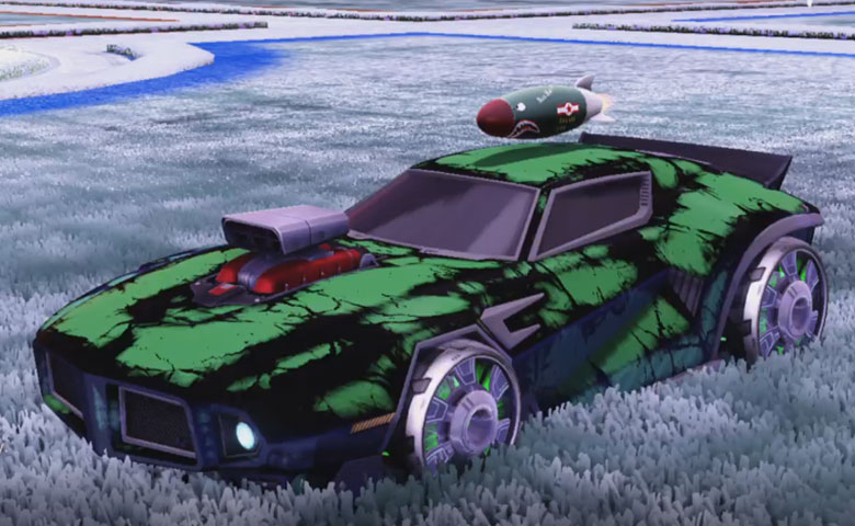 Rocket league Dominus GT design with Generator II,Radiant Gush,Biomass,Mad Bomber