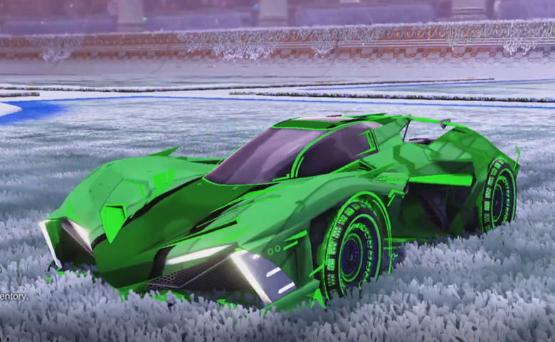 Rocket league Chikara GXT Forest Green design with Spiralis R2,Spectre