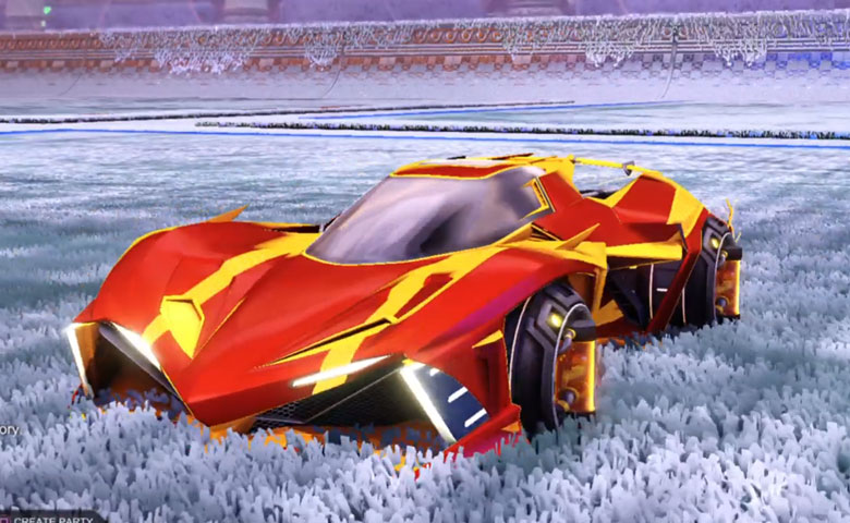Rocket league Chikara GXT Orange design with Tube Tank,Luster Edge