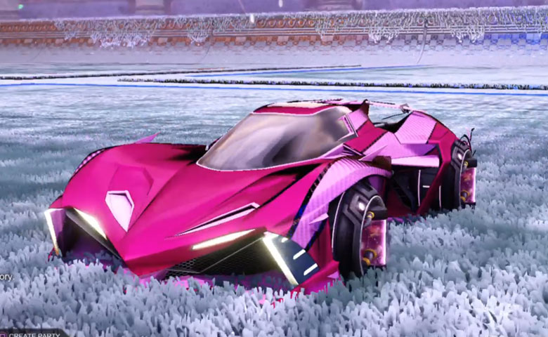 Rocket league Chikara GXT Pink design with Tube Tank,Luster Edge