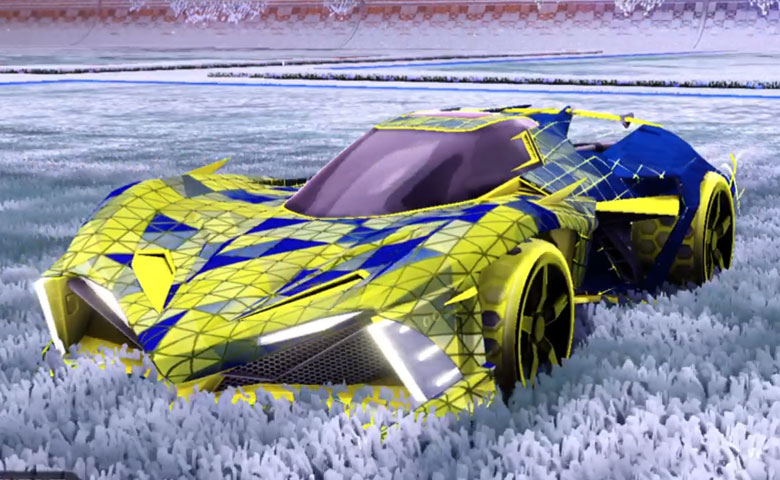 Rocket league Chikara GXT Saffron design with Gripstride HX,Trigon
