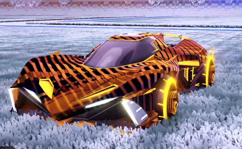 Rocket league Chikara GXT Orange design with Yankii RL,20XX