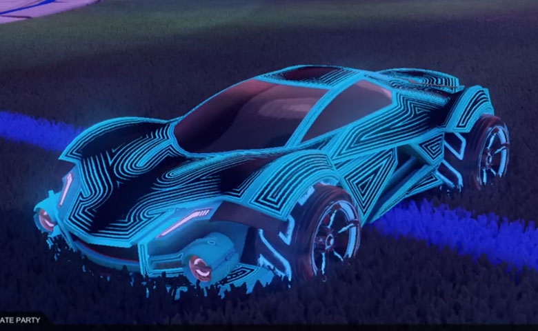 Rocket league Werewolf Sky Blue design with FSL-B,Labyrinth