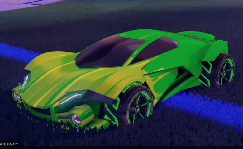 Rocket league Werewolf Forest Green design with FSL-B,Wet Paint