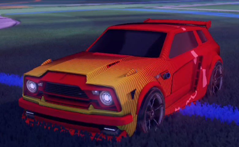 Rocket league Fennec Crimson design with FSL-B,Future Shock