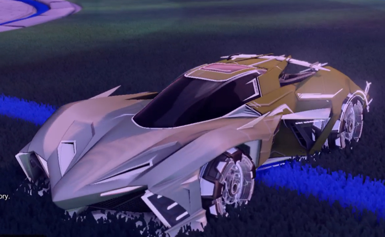 Rocket league Chikara GXT Titanium White design with Neyoyo,Mainframe