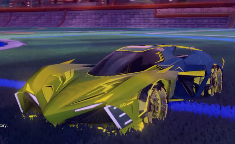 Rocket league Chikara GXT Saffron design with Neyoyo,Mainframe