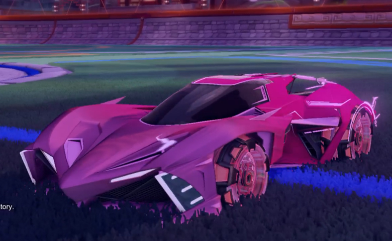 Rocket league Chikara GXT Pink design with Neyoyo,Mainframe