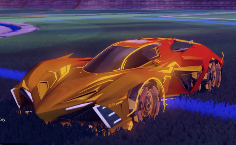 Rocket league Chikara GXT Orange design with Neyoyo,Mainframe