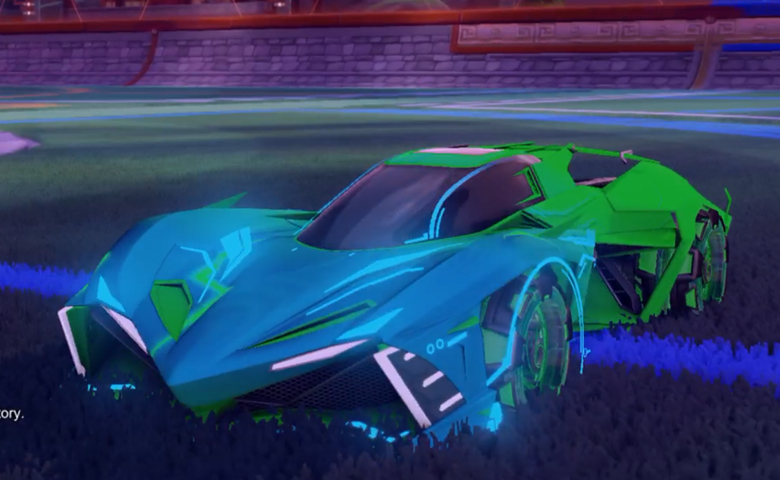 Rocket league Chikara GXT Forest Green design with Neyoyo,Mainframe