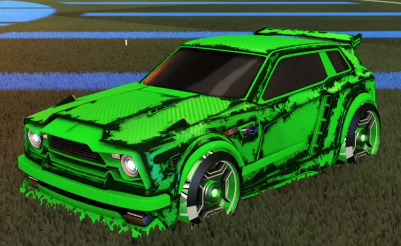 Rocket league Fennec Forest Green design with Petacio,Heatwave