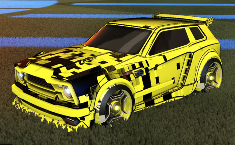 Rocket league Fennec Saffron design with Petacio,Parallax