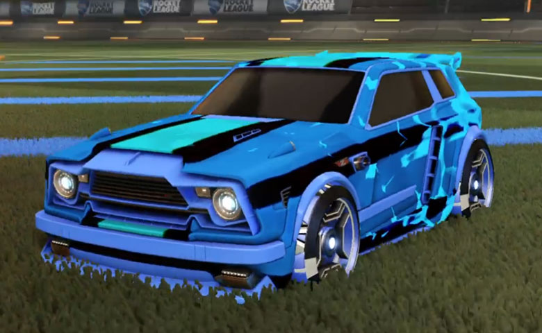 Rocket league Fennec Cobalt design with Petacio,Spectre