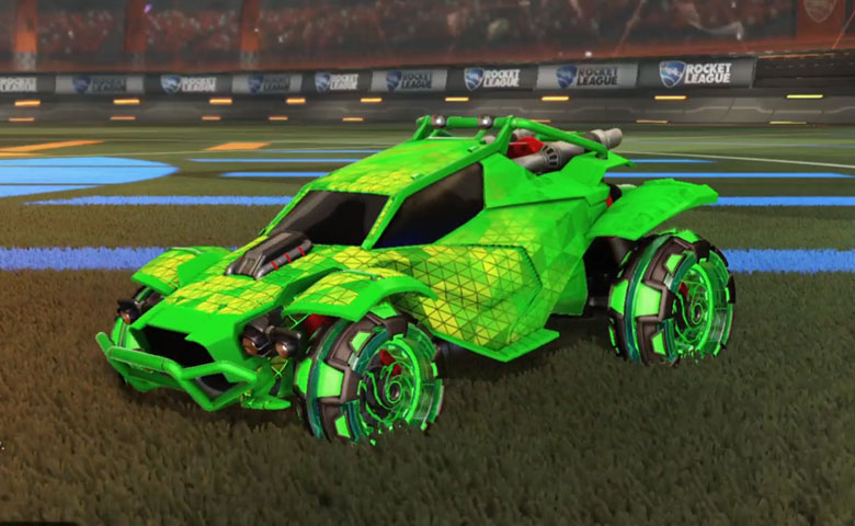 Rocket league Twinzer Forest Green design with NeYoYo,Trigon