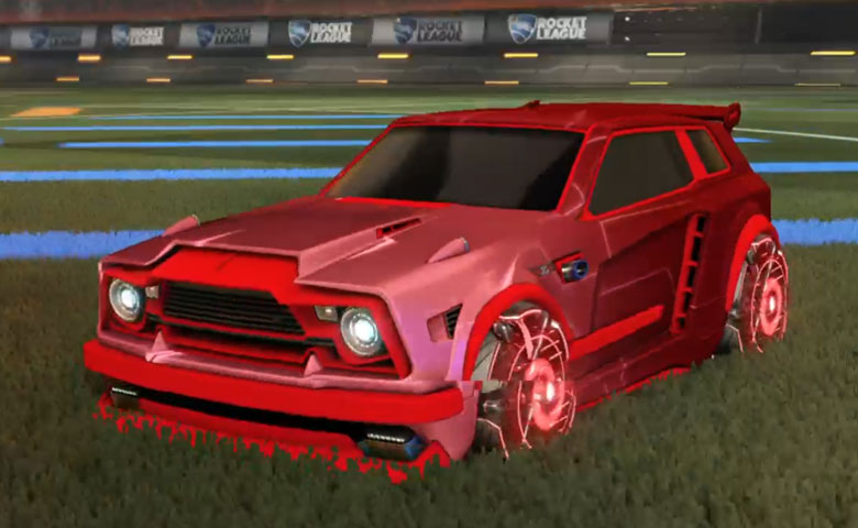 Rocket league Fennec Crimson design with Raijin,Mainframe