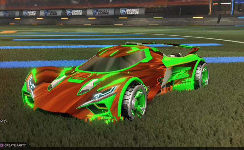 Rocket league Ronin GXT Forest Green design with Shortwire,Tidal Stream