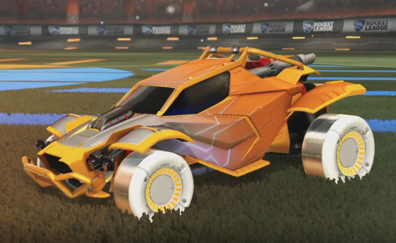 Rocket league Twinzer Orange design with Jandertek,Mainframe