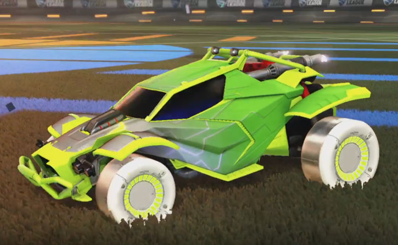 Rocket league Twinzer Lime design with Jandertek,Mainframe