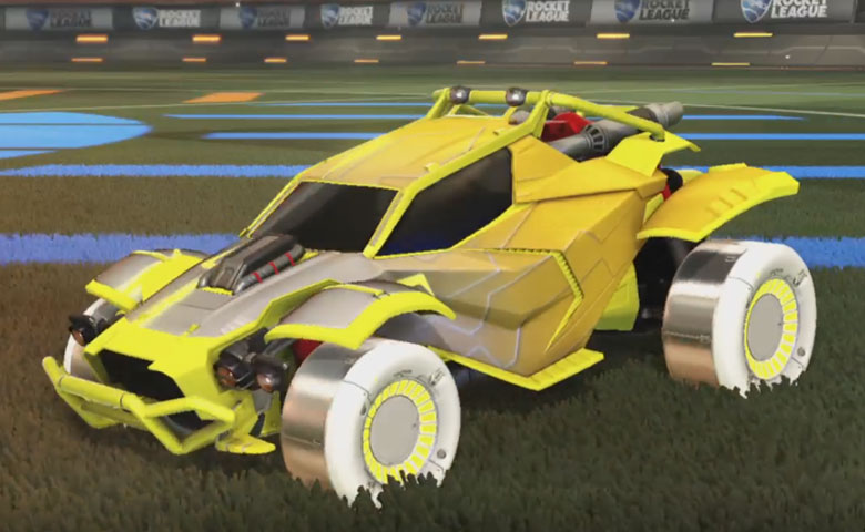 Rocket league Twinzer Saffron design with Jandertek,Mainframe