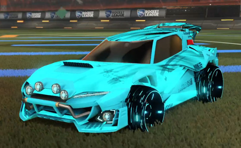 Rocket league Mudcat GXT Sky Blue design with Blade Wave,Tidal Stream