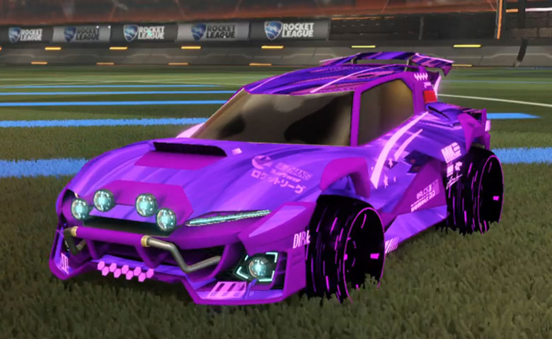 Rocket league Mudcat GXT Purple design with Blade Wave,Tidal Stream