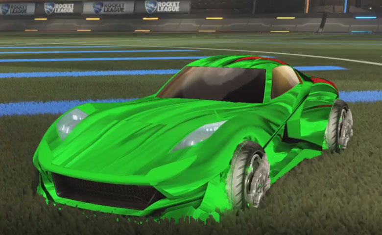 Rocket league Komodo Forest Green design with Draco,Tidal Stream