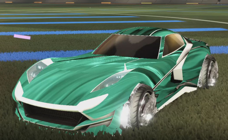 Rocket league Komodo Titanium White design with Draco,Tidal Stream
