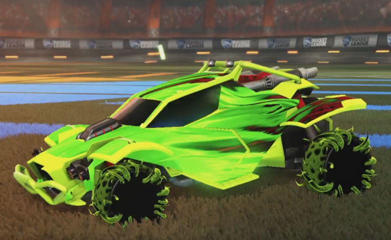 Rocket league Twinzer Lime design with Creeper,Tidal Stream