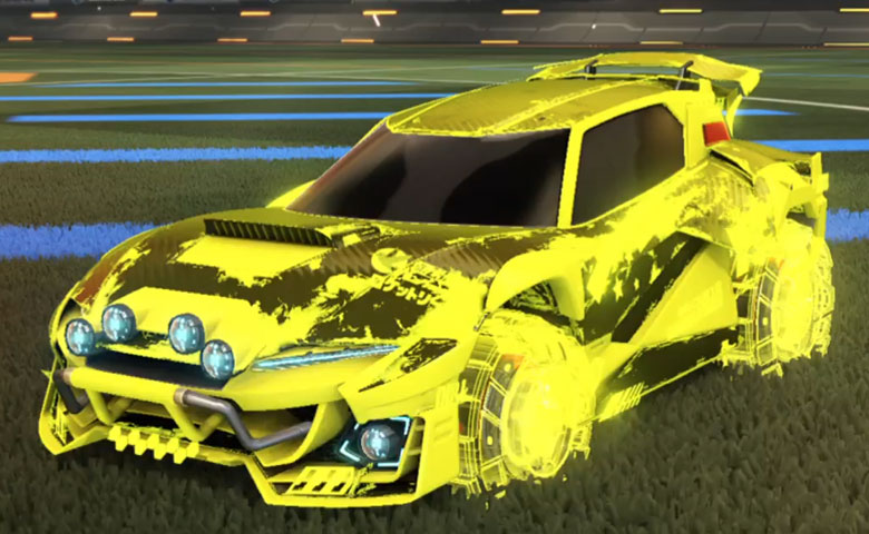 Rocket league Mudcat GXT Saffron design with Rocket Forge II,Heatwave