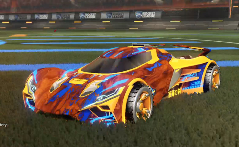 Rocket league Ronin GXT Orange design with Shortwire,Glorifier