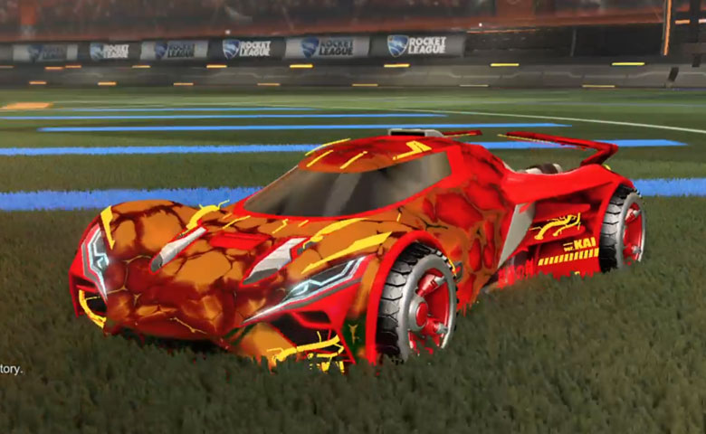 Rocket league Ronin GXT Crimson design with Shortwire,Chameleon