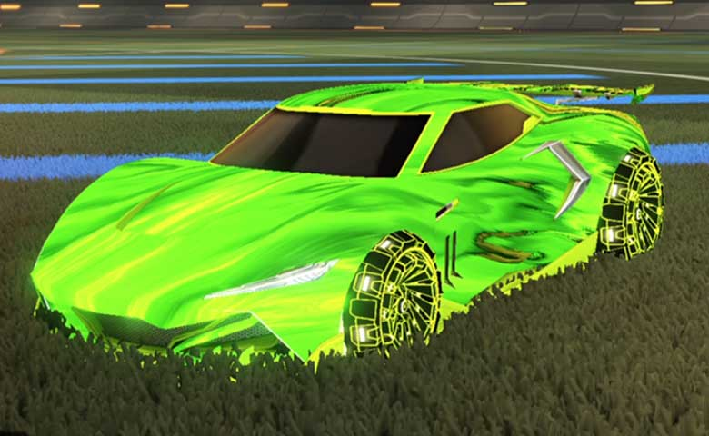 Rocket league Peregrine TT Lime design with Z-RO,Tidal Stream