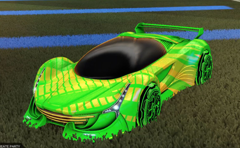 Rocket league Nimbus Forest Green design with HNY: Inverted,20XX