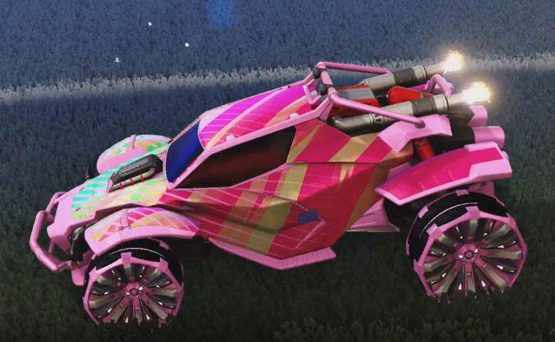 Rocket league Twinzer Pink design with Grappler,20XX