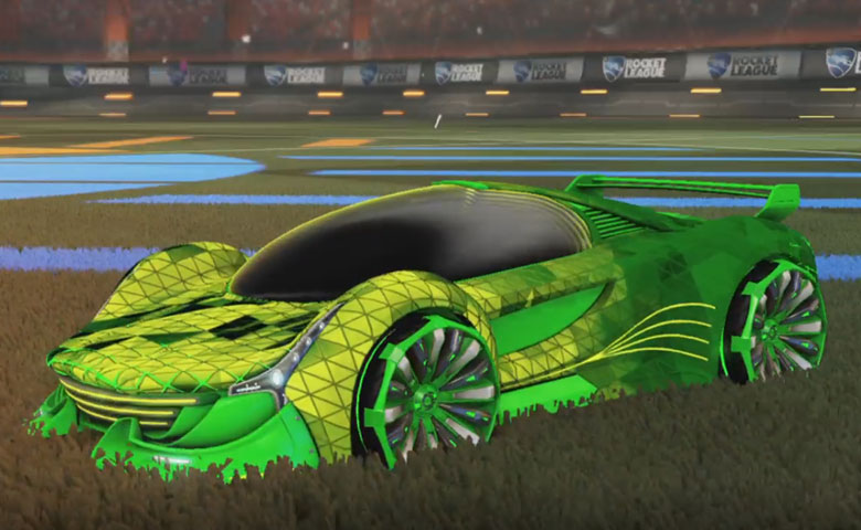 Rocket league Nimbus Forest Green design with Grappler,Trigon