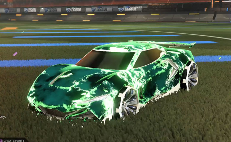 Rocket league Peregrine TT Titanium White design with Grappler,Fire God