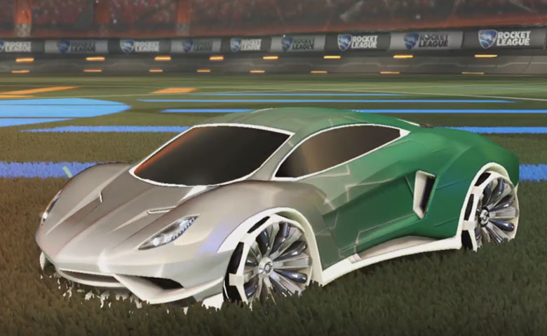 Rocket league Endo Titanium White design with Grappler,Mainframe
