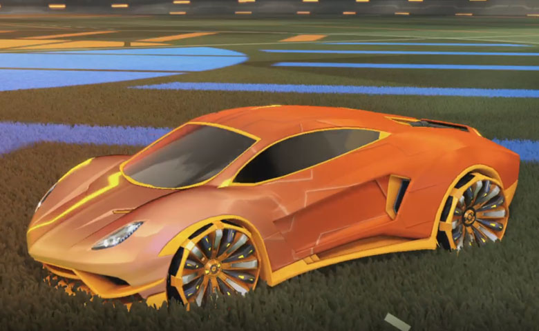 Rocket league Endo Orange design with Grappler,Mainframe